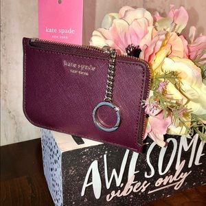Kate Spade Cameron Medium L-Zip Card Holder NWT
